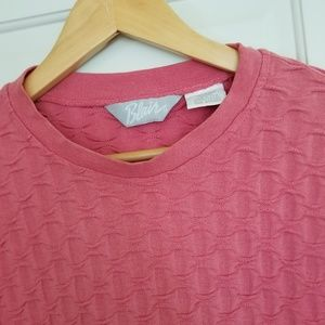 Vintage Blair Pink Long Sleeve Top - Made in USA!